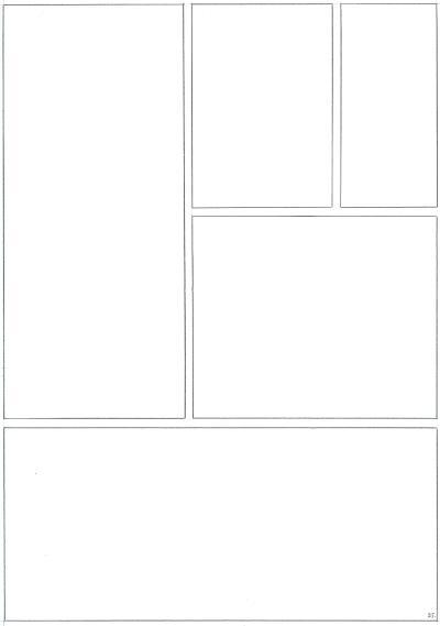 Page with the panel frames drawn.