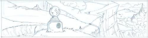Inked comic panel.